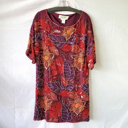 Mila Schön Silk Beaded Dress - size 42/M