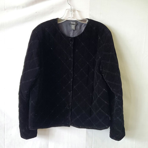 Eileen Fisher Quilted Velvet Jacket with Buttons - M