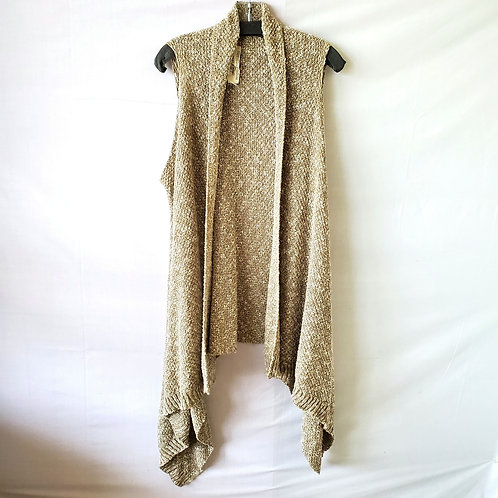 Farm 2 Fashion Recycled Cotton Knit Draped Vest - Free Size