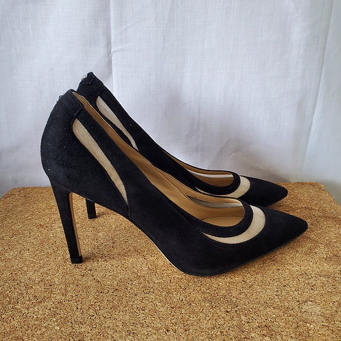 Sam Edelman Suede Pumps with Sheer Cutout - size 7.5