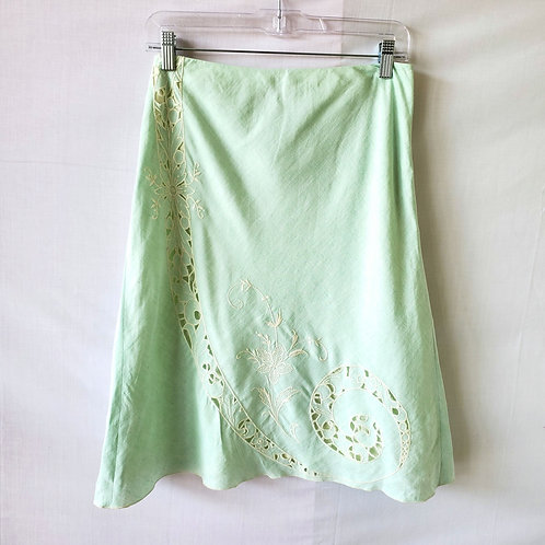 LOFT Mint Green Skirt with Lace - size 4