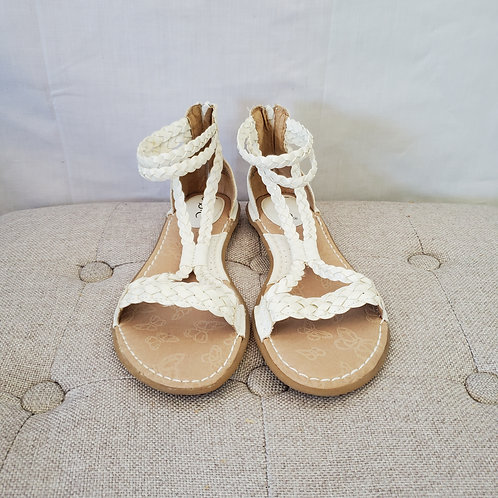 BØC White Gladiator Sandals - size 7M - Like New