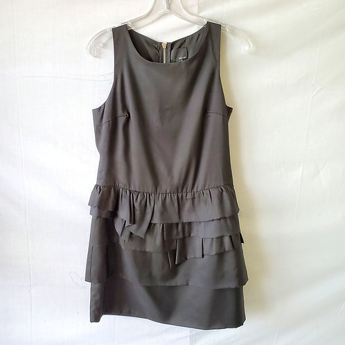 Greylin Black Ruffle Skirt Dress - M