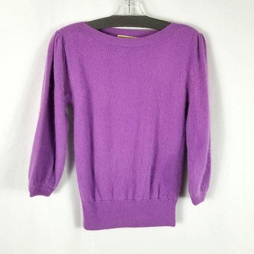 Vintage Terracotta Lambswool/Angora Lavender Sweater - S