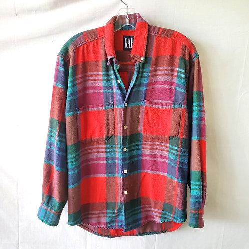 Vintage 90s GAP Cotton Plaid Shirt - S