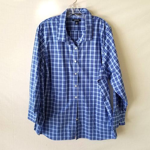 Land's End No Iron Supima Button Up Shirt - 26W