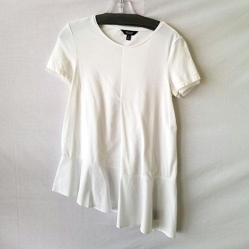 Simply Vera Asymmetrical White Tee - XS