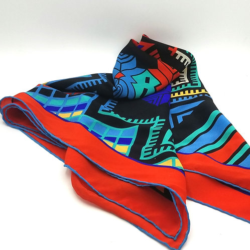 Multicolor Rolled Edge Scarf