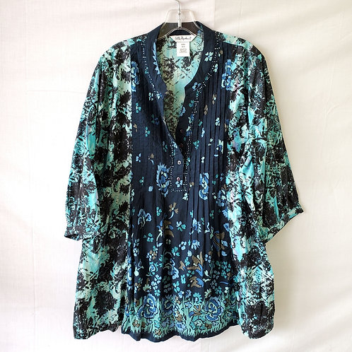 Ulla Popken Printed Cotton Tunic - 12/14W