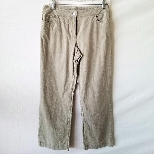 Eileen Fisher Cotton Khaki Pants - size Petite S
