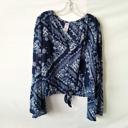 Justice Tie Front Blouse - size 10