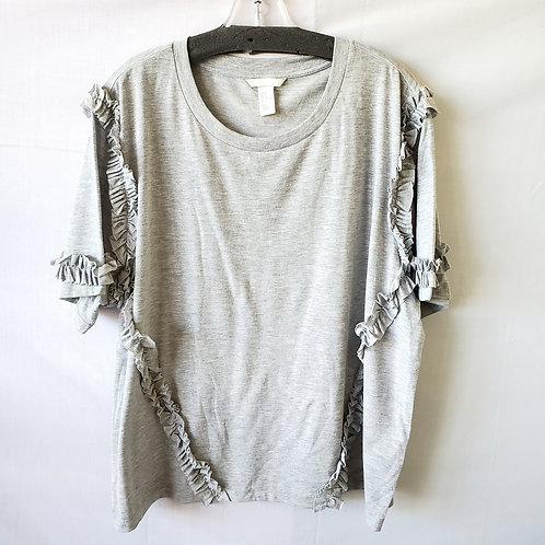 H&M Gray Tee with Ruffles - XL