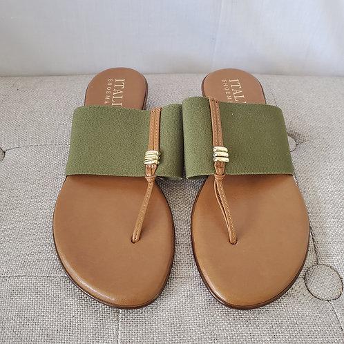 Italian Shoemaker Olive Sandals - size 6.5