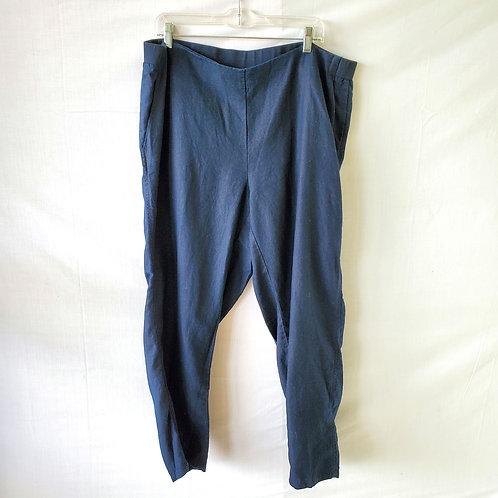J Jill Love Linen Navy Pants - 2X