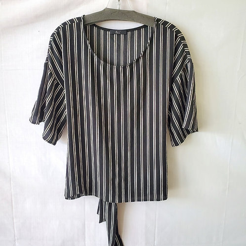 Tua Striped Boxy Fit Top with Tie - XL