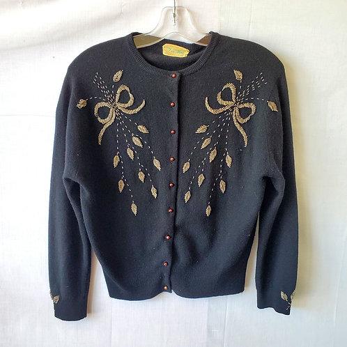 Vintage 'Fur Blend' Beaded Cardigan - approx S