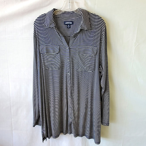 Land's End Striped Tunic Top - 1X