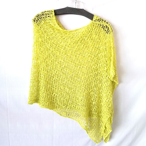 Lost River Clothing Open Knit Asymmetrical Capelet - One Size