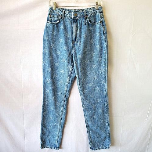 NastyGal Star Print Jeans - size 8