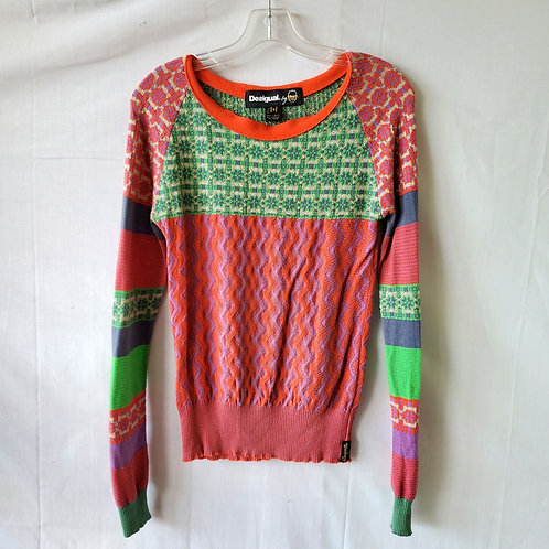 Desigual Patterned Sweater - S