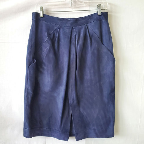 Iris & Ink Goat Suede Pleated Skirt - size 14