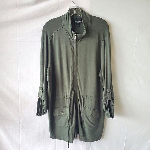 Cynthia Rowley Super Soft Tunic with Zipper & Drawstring - 1X