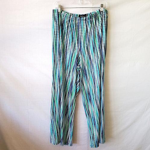 Travel Elements Blue & Green Pants - 1X