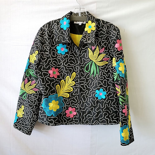 Anage Embroidered Zipper Jacket - M