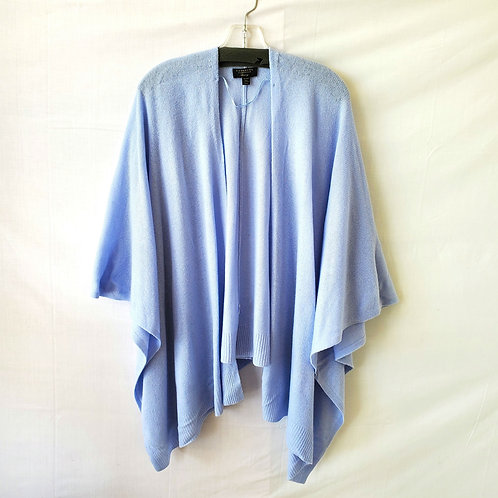 Charter Club Baby Blue Cashmere Cape - One Size