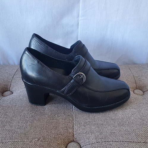 Dansko Leather Loafers with Heels - size 37