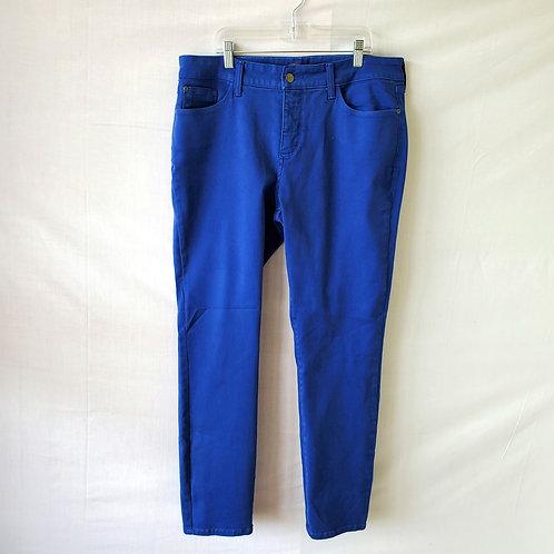 NYDJ Royal Blue Alina Legging Jeans - size 12