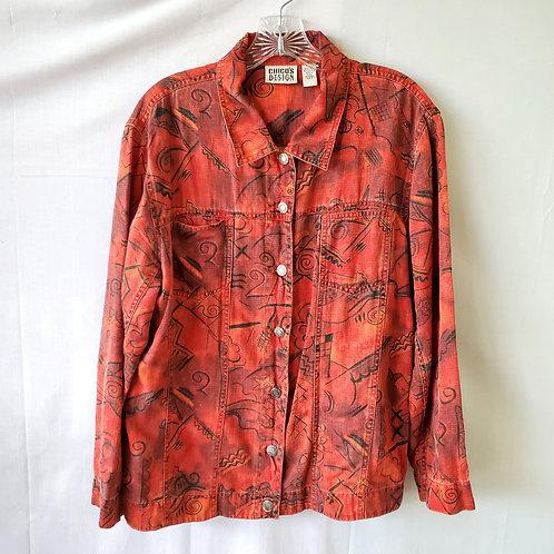 Chico's Linen & Cotton Jacket - size 2/M