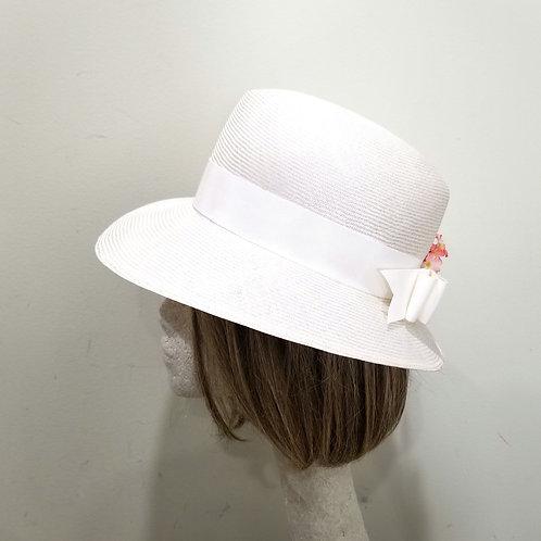 Vintage Fedoria White Spring Hat