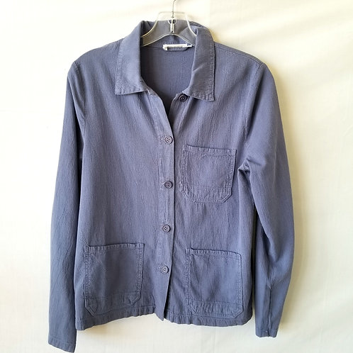 Lacausa Periwinkle Button Top - XS