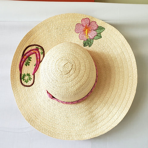Sunhat with Embroidery