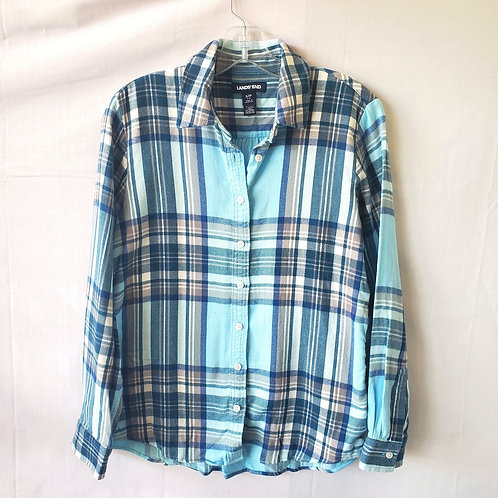 Land's End 100% Cotton Flannel Shirt - S