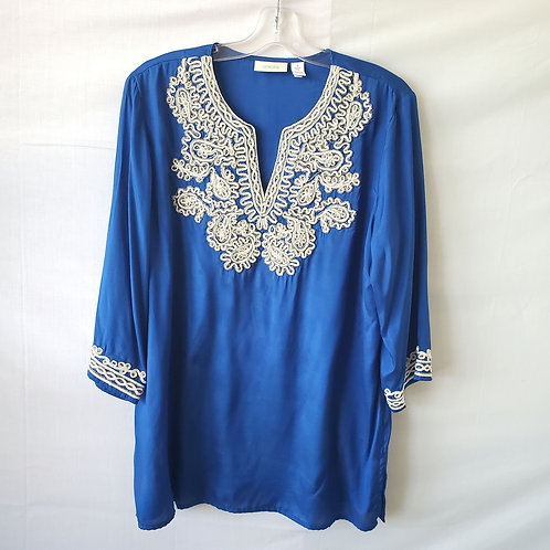Chico's Rayon Tunic with Embellishment - size 2/L