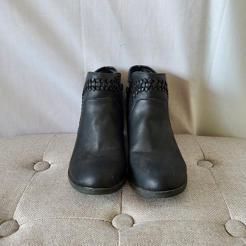 American Rag Faux Leather Booties with Braiding - size 8