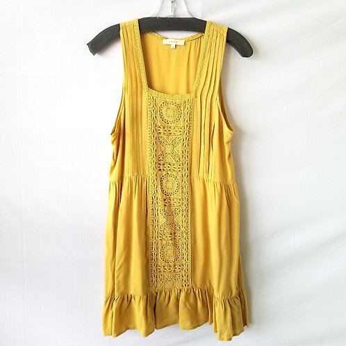 Entro Mustard Lace Front Dress - S
