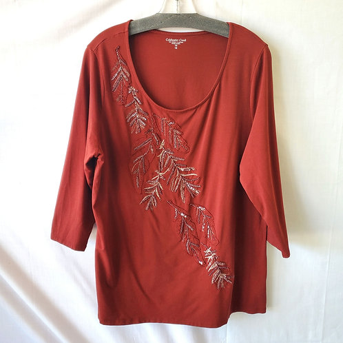 Coldwater Creek Embellished Top - 1X
