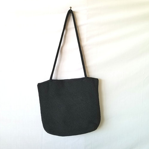 The Sak Small Black Woven Tote Bag