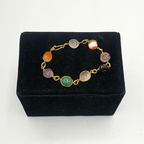 Wire Wrapped Stones Bracelet