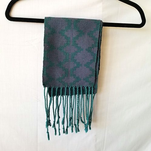 JoanneWood Peters Handwoven Scarf with Tassels