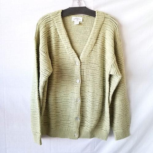 United Knitwear Celery Open Weave Cardigan - S