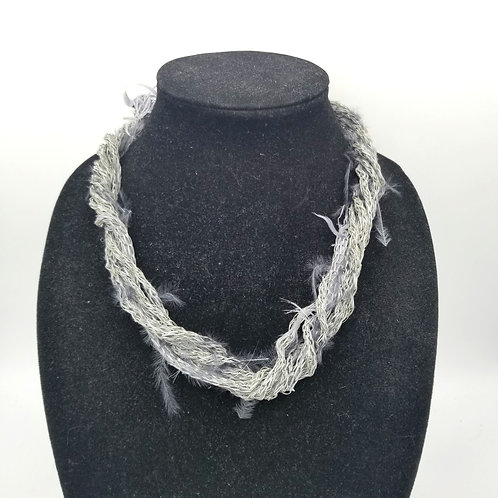 Fiber & Feathers Necklace with Magnetic Clasp