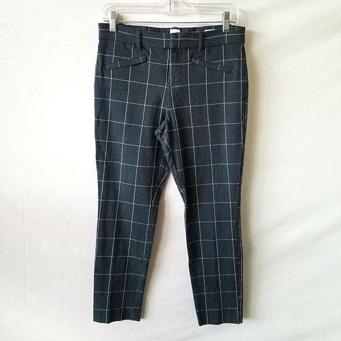 GAP Windowpane 'Signature Skinny Ankle' Pants - size 4