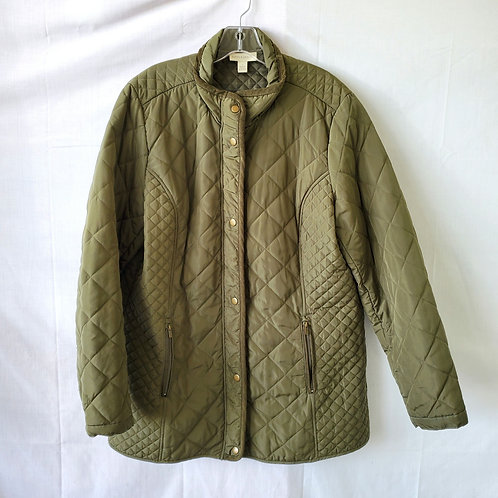 Appleseed's Quilted Jacket with Zipper - L
