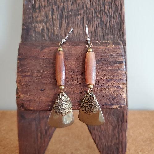 Brass & Bead Earrings