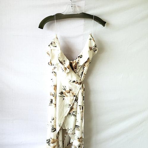 Showpo Hi-Low Floral Wrap Dress - size 8