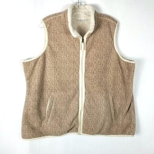 Croft & Barrow Fleece Cozy Vest - 2X